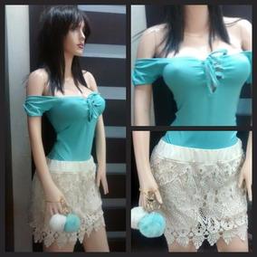 Short De Encaje Faldas Blusas Y Bodys