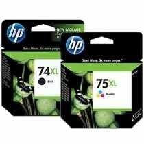 Kit Cartucho Hp 74xl E 75xl Original Na Caixa Lacrado!!