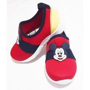 Tênis Meia Infantil Menino Mickey Mous Sapatênis Calça Fácil