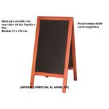 Pizarra Negra Magnetica Doble 75x100 Marco Madera Premium