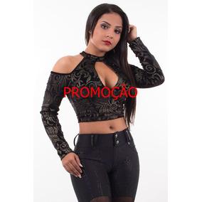 Blusa Cropped Pit Bull Jeans Na Promoção Tam P 23464 Linda