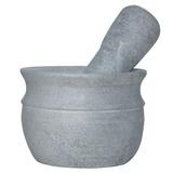 Pilão Almofariz Com Socador Em Pedra Sabão