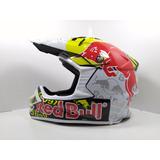 Casco Ghb 819-5 Red Bull Moto Cross Enduro Dh. M, L