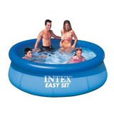 Alberca Familiar Intex 2.44m Con Cubierta Regalo *envio Grat
