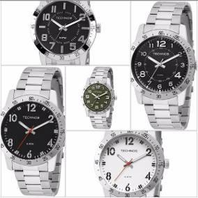 Relógio Technos Todo Em Aço Masculino - Varias Opções 5 Atm