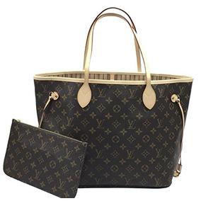 Bolso Beige M Del Monograma De Louis Vuitton Neverfull Mm