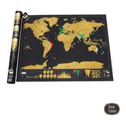 Mapa Mundi Raspadita! Viajeros Mundo Excelente Regalo Países