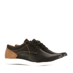 Zapatos Estilo Casual De Cuero En Negro De Hombre Batistella