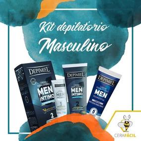 Kit Depilação Masculina Depimiel Men Intimo + Corporal
