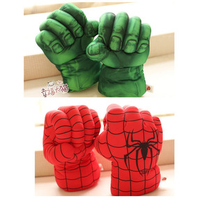 Par De Luvas Pelucias Hulk Ou Homen Aranha Valor Unidade