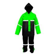 Impermeable Verde Para Motociclista C/reflejantes Impermexa-