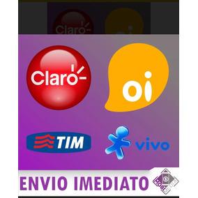 Recarga Celular Crédito Online Vivo Oi Claro Tim R$ 50,00