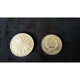 Lote 2 Monedas Plata De La Fao Y Del Gaucho Inmaculadas