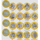 Monedas Olimpiadas De Brasil Remato Set Completa 16 Monedas