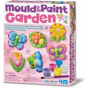 m kit figuras de jardin moldea y pinta didactico creativo