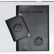 Kit Porta Manual E Porta Documento Couro Eco C Várias Marcas