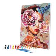 Pintura Numerada Olhar Feminino 40x50cm