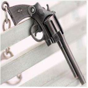 Chaveiro De Arma Pistola Revólver Militar Em Metal