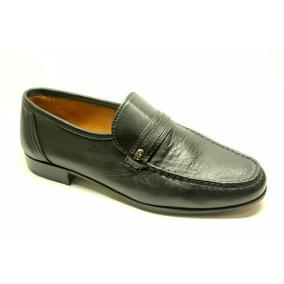 Zapatos Mocasines De Vestir De Cuero De Cabra Elastizados