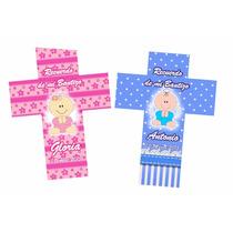 10 Cruces Personalizadas Recuerdo Para Fiestas