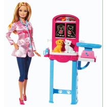 Boneca Barbie Quero Ser Veterinária Mattel Nova