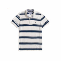 Camisa Polo Tommy Hilfiger Piquet Listras Masculina Original