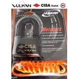 Candado Cisa De 60 Mm Vulkan Motolock Especial Para Motos