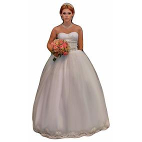 Vestido De Noiva Princesa Peito Em Renda Francesa