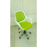 Silla Ejecutiva Color Verde Con Blanco De Lujo Poco Usada