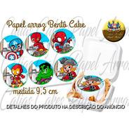 Papel De Arroz Comestível Bentô Bento Cake 9,5 Cm Redondo