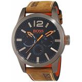 Reloj Hugo Boss Paris Quartz Japones Orange Color Marron