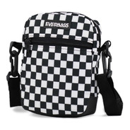 Shoulder Bag Bolsa Necessaire Pochete Everbags Xadrez Estilo