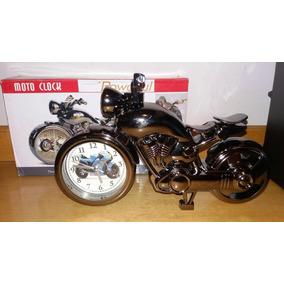 Relógio De Mesa Despertador Moto Clock Powerful Na Caixa