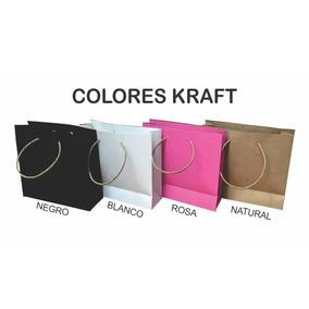 Paquete De Bolsas Papel Kraft Boutique Personalizadas Surtid