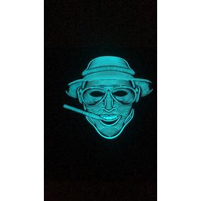 Disfraz Mascara Halloween Panel Luz Led Envio Gratis