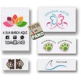 Etiquetas Tecido Personalizadas Algodão P/ Roupas Artesanato