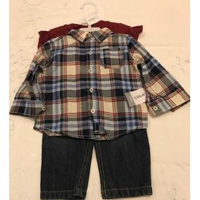 Conjunto Carter`s Camisa Jean Y Remera - Nene Talle 12 Meses