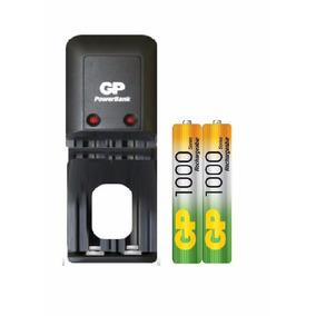 Cargador Gp Para Pilas Aa/aaa + 2 Baterias Aaa 1000 Mah