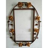 Moldura De Espelho Oval/decoração Em Ferro (artesanato)