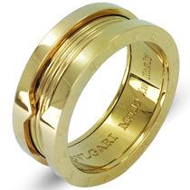 Aliança Anel Titânio Banhado Ouro 18k Filled - Luxo