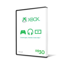 Xbox Live Cartão R$ 30 Reais Gift Microsoft Points Brasil