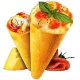 Pizzas En Conos Comida Italiana Receta Alimentación Masa