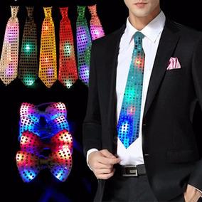 Pack X2 Corbata Luminosa Led Novio Despedida De Soltero