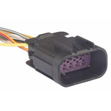 Oquete Plug Conector Chicote Conexão Auxiliar Meriva 10vias
