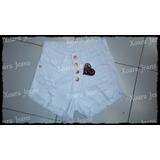 Short Gabardina C/ Spandex Tiro Alto Mujer - Xoara Jeans
