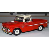 1:24 Chevrolet C10 Pickup 1966 Rojo Motor Max Display