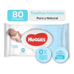 Toallas Húmedas Huggies Puro Y Natural X 80