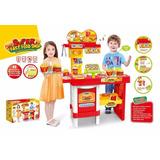 Brinquedo Super Mercado Lanchonete Infantil C/ 46 Acessórios