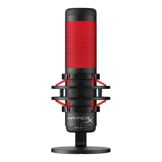 Micrófono Con Accesorios Hyperx Quadcast Condensador Negro
