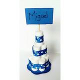 Recuerdo Para Baby Shower. Mini Torta De Panales En Foami